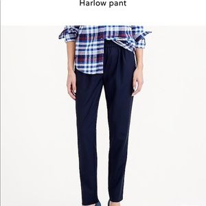 Navy blue J Crew Harlow pants